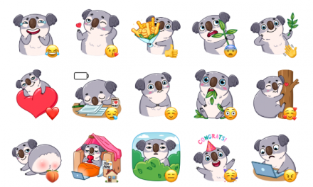 Kozy Koala Sticker Pack