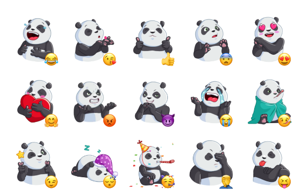 Pandalicious Sticker Pack