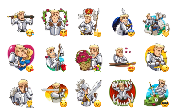 Romantic Knight Sticker Pack