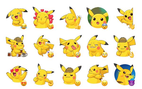 Pikachu Detective Sticker Pack