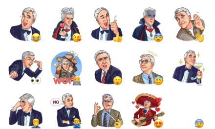 Leslie Nielsen Sticker Pack
