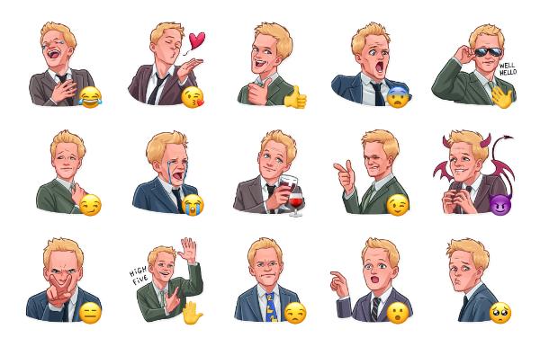 Barney Stinson Sticker Pack