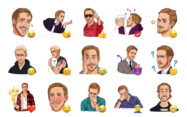 Ryan Gosling Sticker Pack
