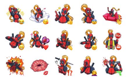 Lady Deadpool Sticker Pack