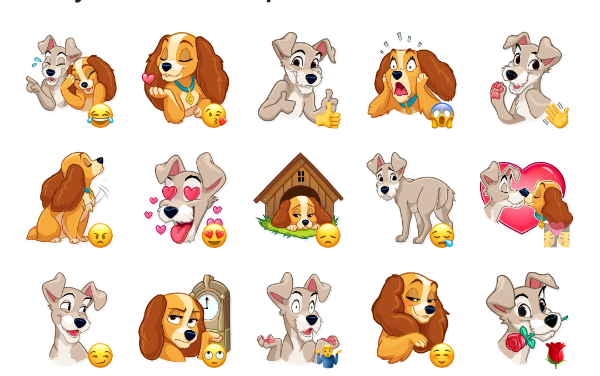Lady and the Tramp Sticker Pack