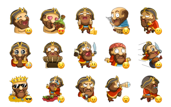 Captain Jack Sticker Pack