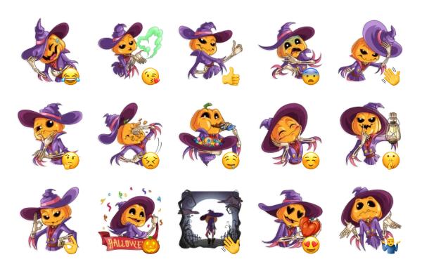 Jack Pumpkinhead Sticker Pack