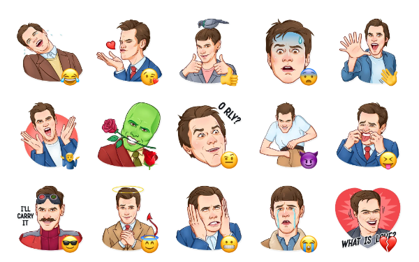 Jim Carrey Sticker Pack
