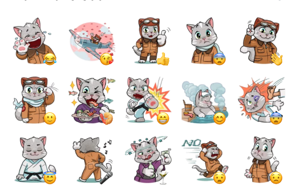 Adventurous Cat Sticker Pack