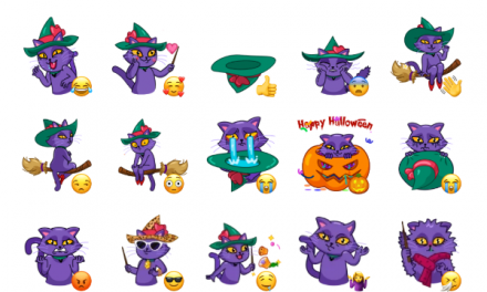 Witch Cat Sticker Pack