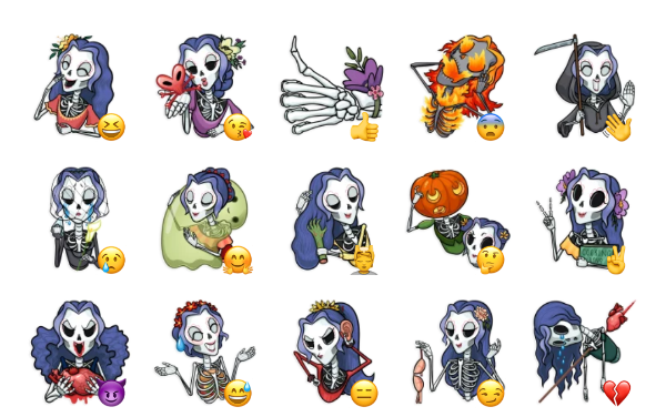 Catrina Calavera Sticker Pack