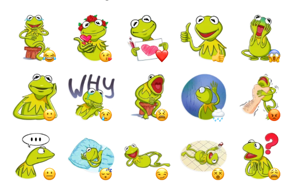 Kermit the Frog Sticker Pack