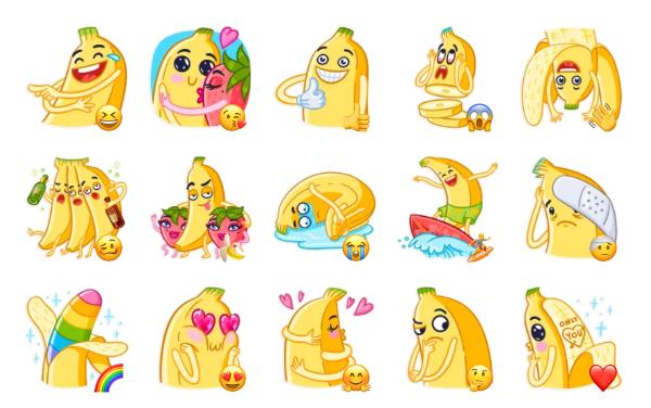Banana Sticker Pack