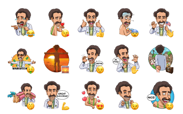 Borat Sagdiyev Sticker Pack