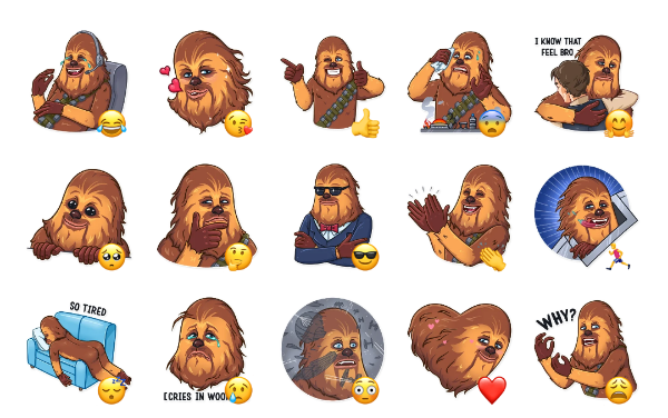Chewbacca Sticker Pack