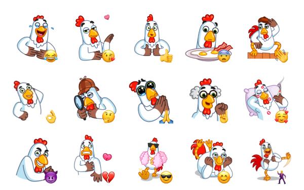 Cock Around the Clock Sticker Pack