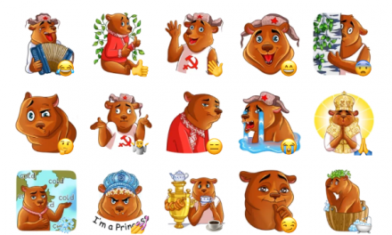 Comrade Bearski Sticker Pack