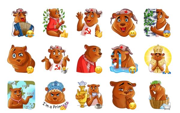Comrade Bearski Sticker Pack
