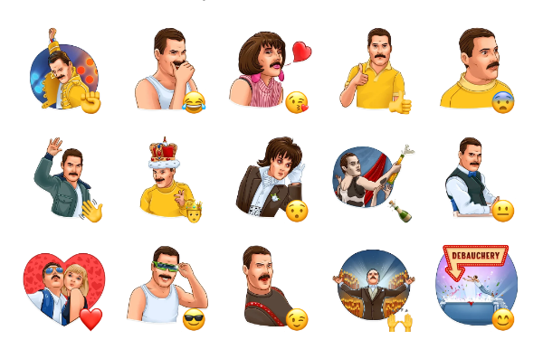 Freddy Mercury Sticker Pack