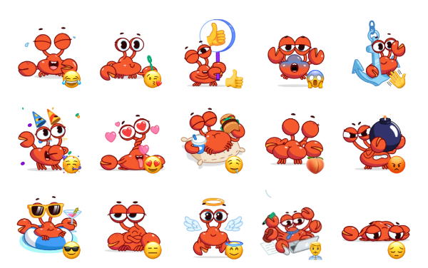 Grab this Crab Sticker Pack