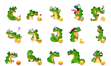 Green Lezard Sticker Pack