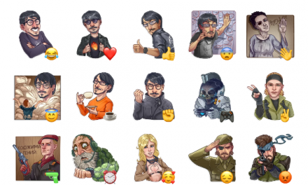 Hideo Kojima Sticker Pack