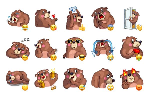 Honey Bear Sticker Pack