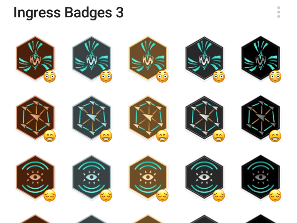 Ingress badgest stiker set