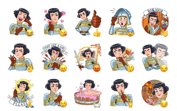 Joan of Arc Sticker Pack