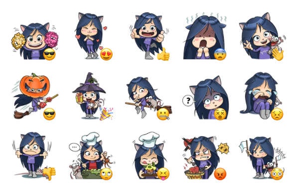 Kitty the Witch Sticker Pack