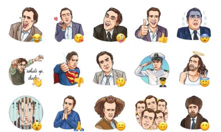 Nicolas Cage Sticker Pack