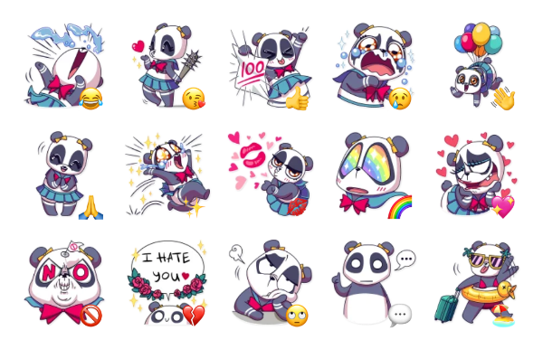 Panda Chan Sticker Pack