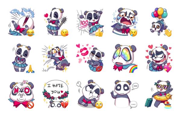 Panda Chan Sticker Pack