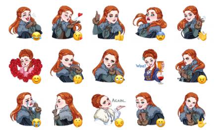 Sansa Stark Sticker Pack