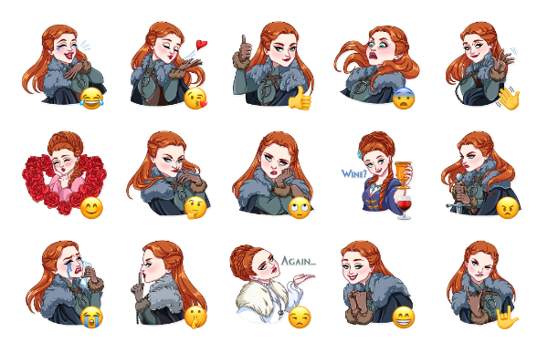 Sansa Stark Sticker Pack