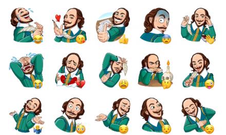 Shakespeare Sticker Pack