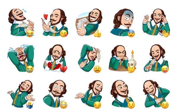 Shakespeare Sticker Pack
