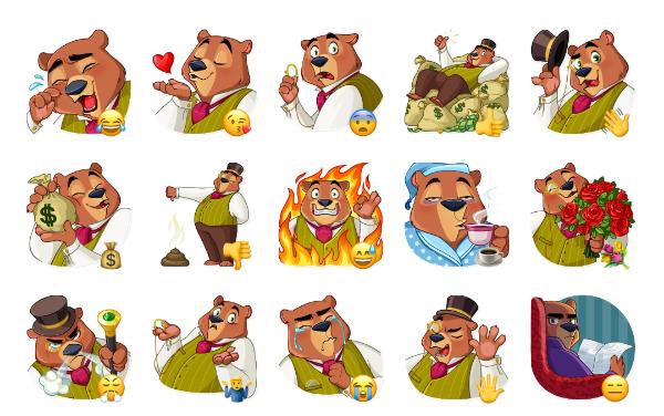 Todd Bear Sticker Pack
