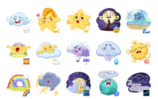 Weather Moods Sticker Pack