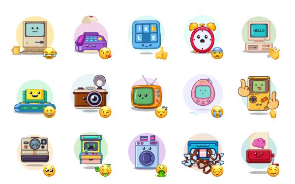 90s Gadgets Sticker Pack