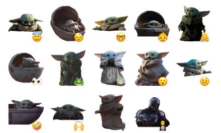Baby Yoda Sticker Pack