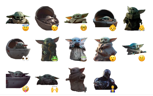 Baby Yoda Sticker Pack
