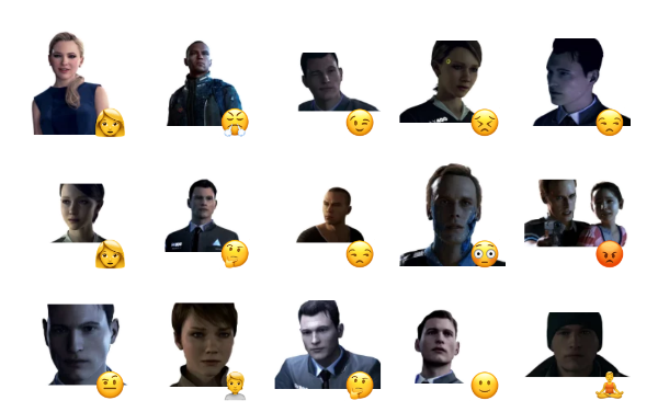 Detroit: Become Human Sticker Pack