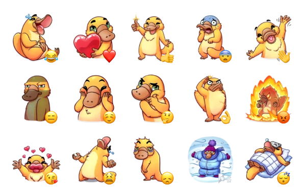 Cooper the Platypus Sticker Pack