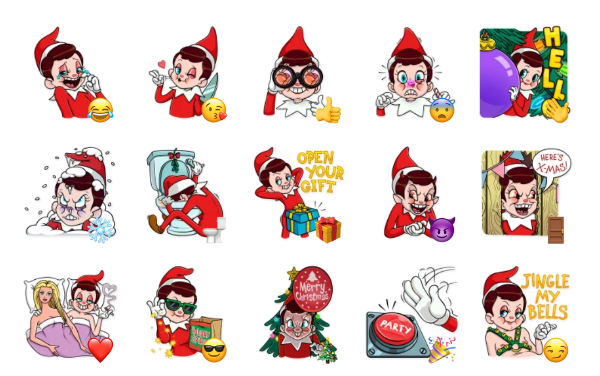 Elf on The Shelf Sticker Pack