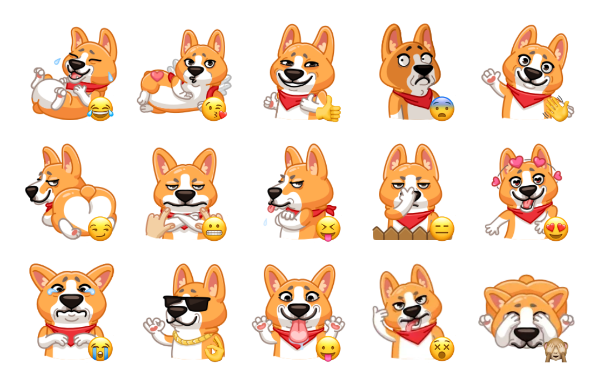 Muffin the Corgi Sticker Pack