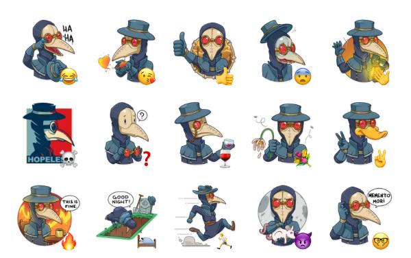 Plague M. D. Sticker Pack