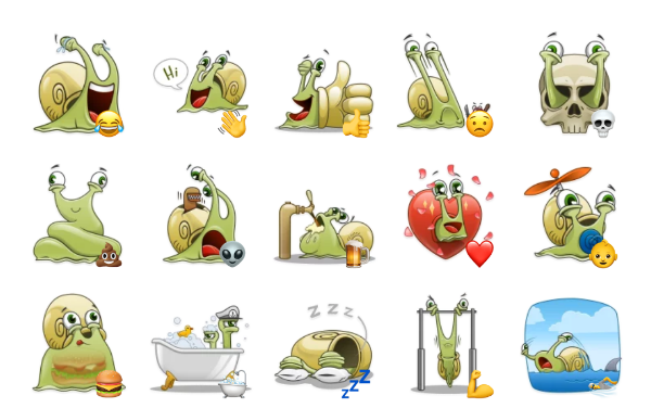 Snailo Sticker Pack