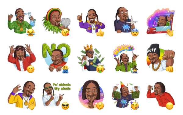 Snoop Dogg Sticker Pack