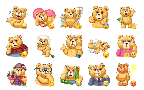 Ted Sticker Pack